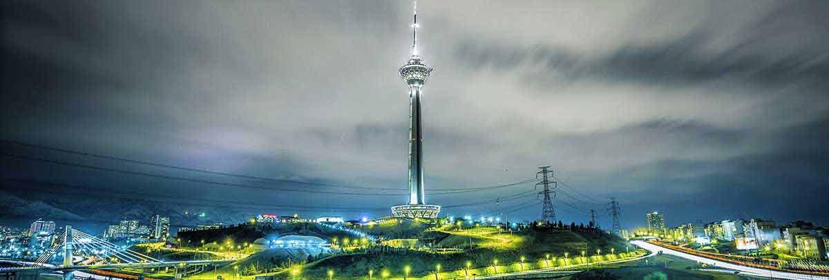برج میلاد تهران در شب