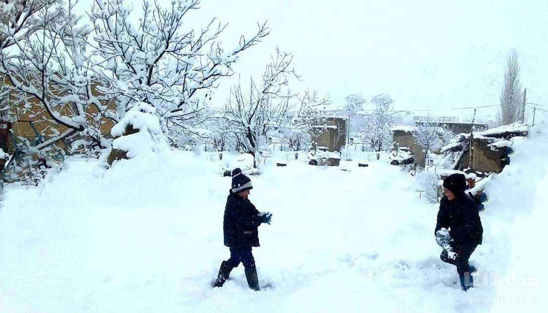 روز برفی کاخ سعد آباد