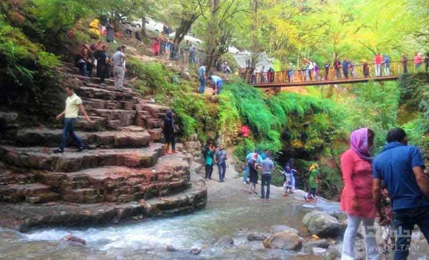 پل فلزي آبشار ويسادار