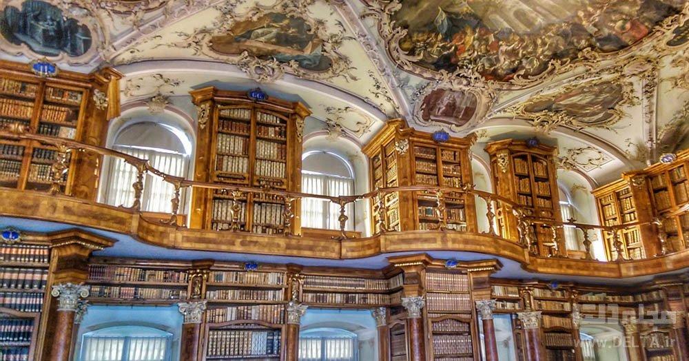 کتابخانه معروف سوئیس st gallen library