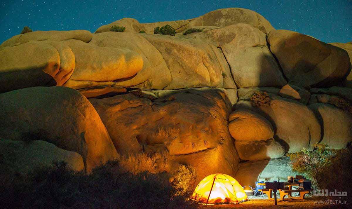 چادر زدن در کویر