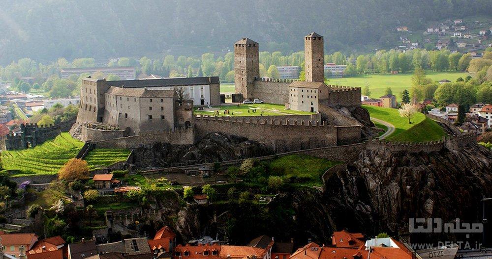 قلعه معروف سوئیس bellinzona castelgrande