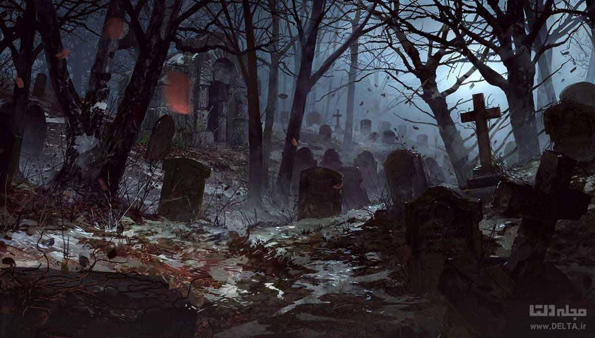 قبرستان جاذبه گردشگری سیاه dark tourism