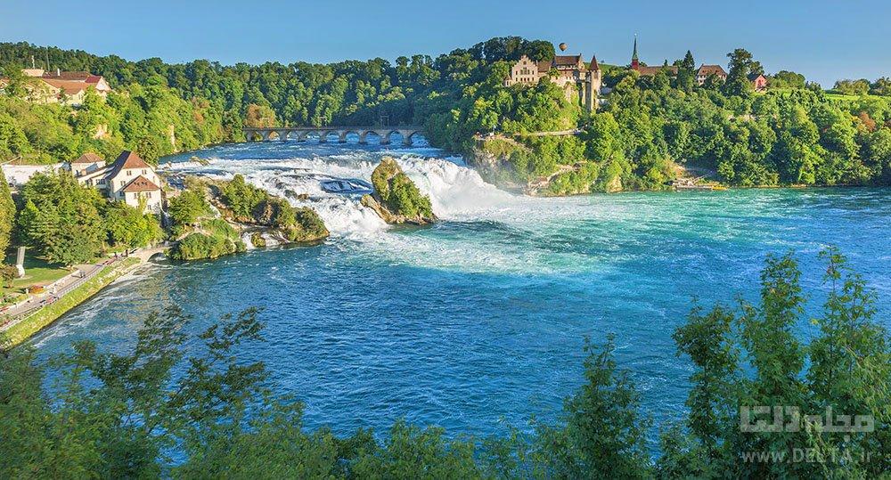 آبشار راین فال سوئیس Rheinfall