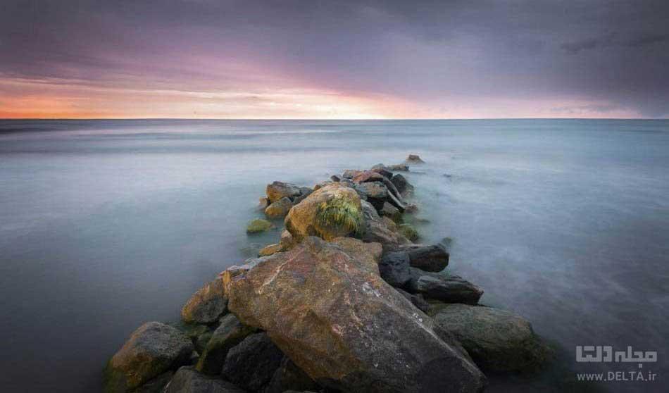 ساحل چمخاله دریای خزر