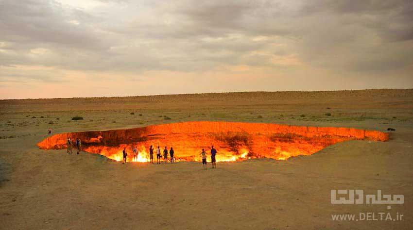 دروازه جهنم ترکمنستان The Door to Hell