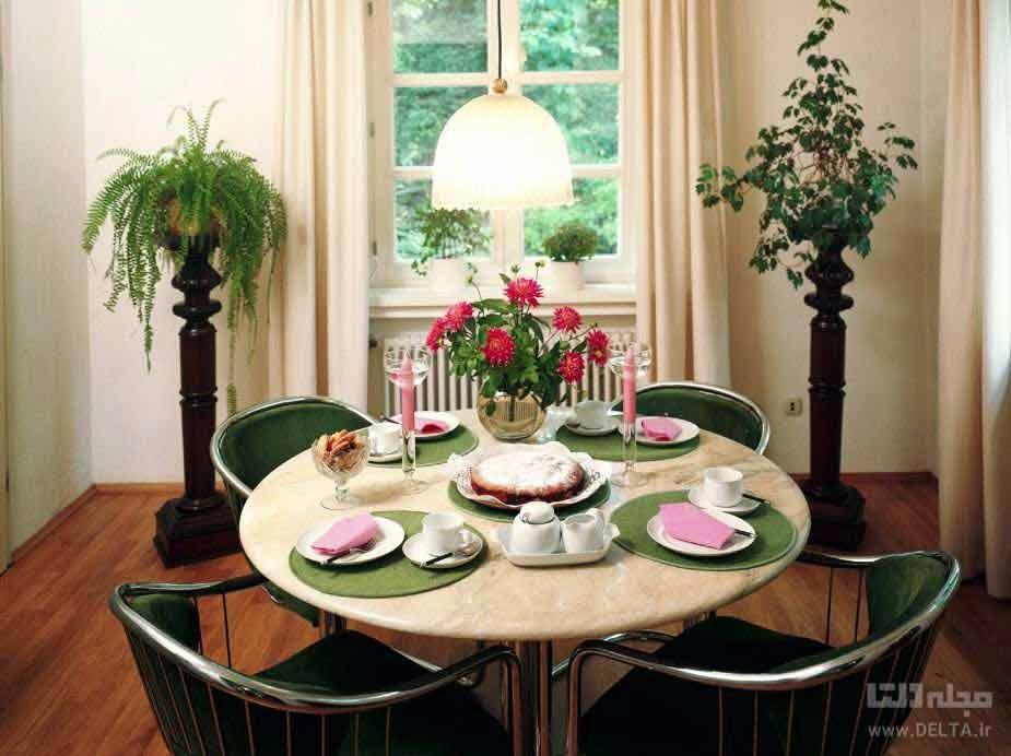 میز ناهار خوری گرد