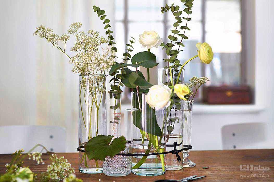 گل مصنوعی برای دیزاین خانه