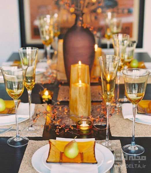 میز نهارخوری به سبک پاییزی