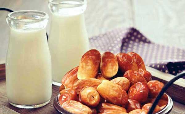 فواید رژیم شیر و خرما