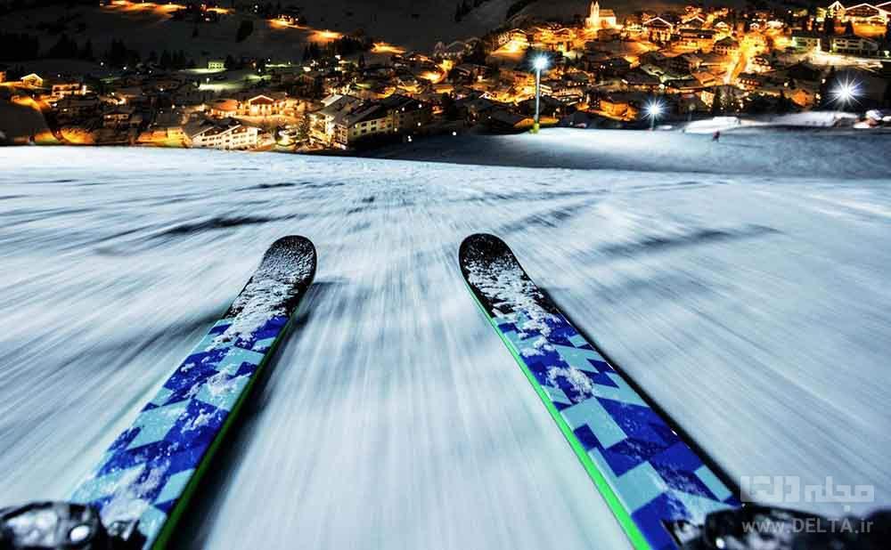 اسکی در شب پیست شمشک