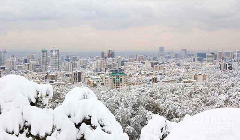 پایتخت در برف
