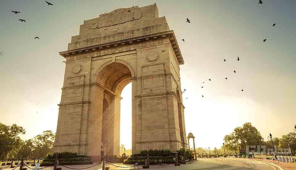 India Gate دروازه هند جاهای دیدنی دهلی