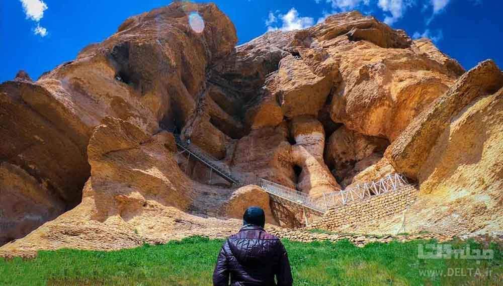 غار کرفتو دیدنی کردستان معبد هراکلس