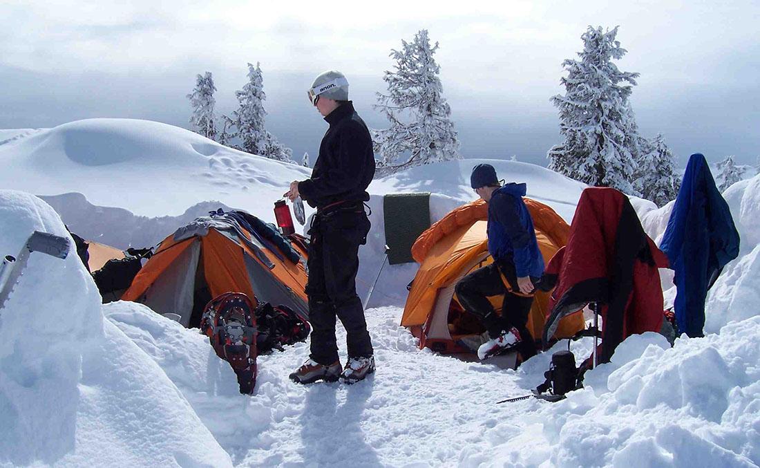 کمپ در کوهستان