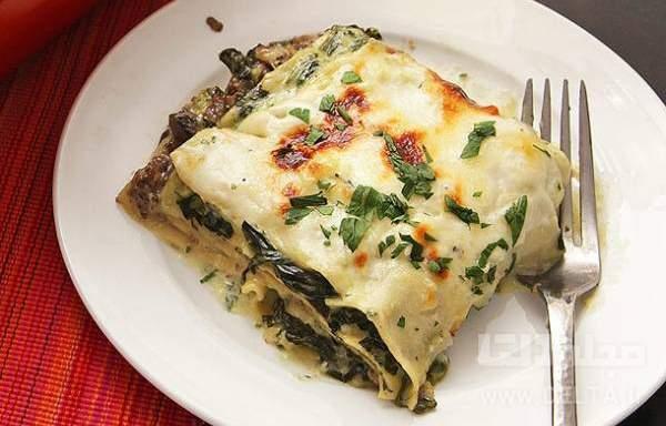 لازانیا اسفناج و پنیر