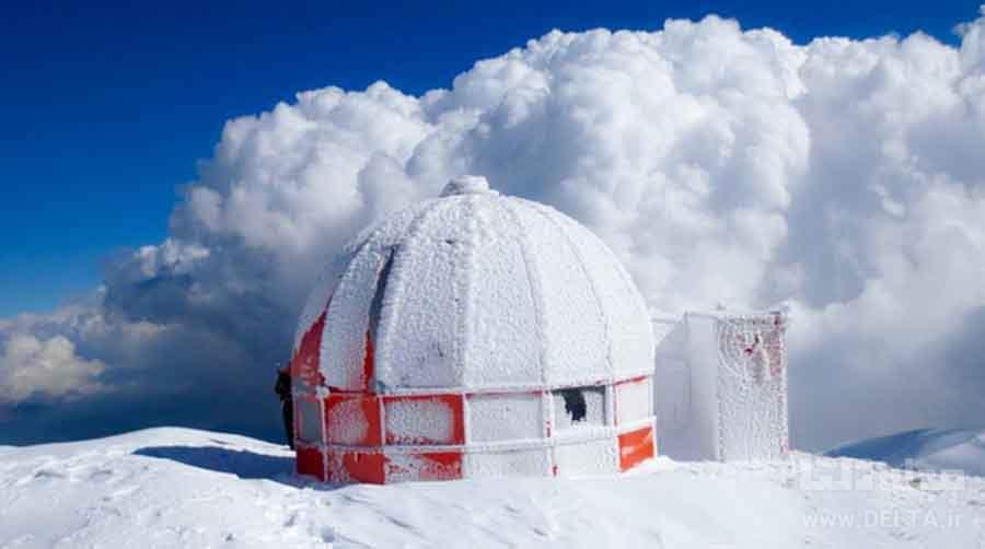 تصاویر برفی دیدنی قله