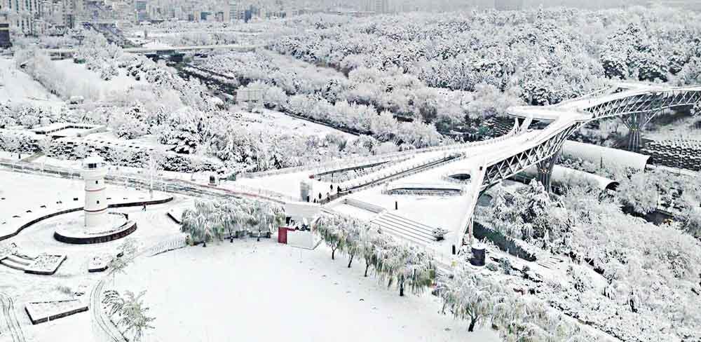 بزرگترین پل پیاده روی تهران