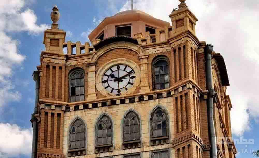 برج ساعت تبریز در میدان شهرداری