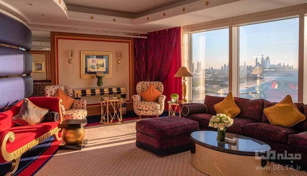 اتاق های هتل العرب جمیرا دبی