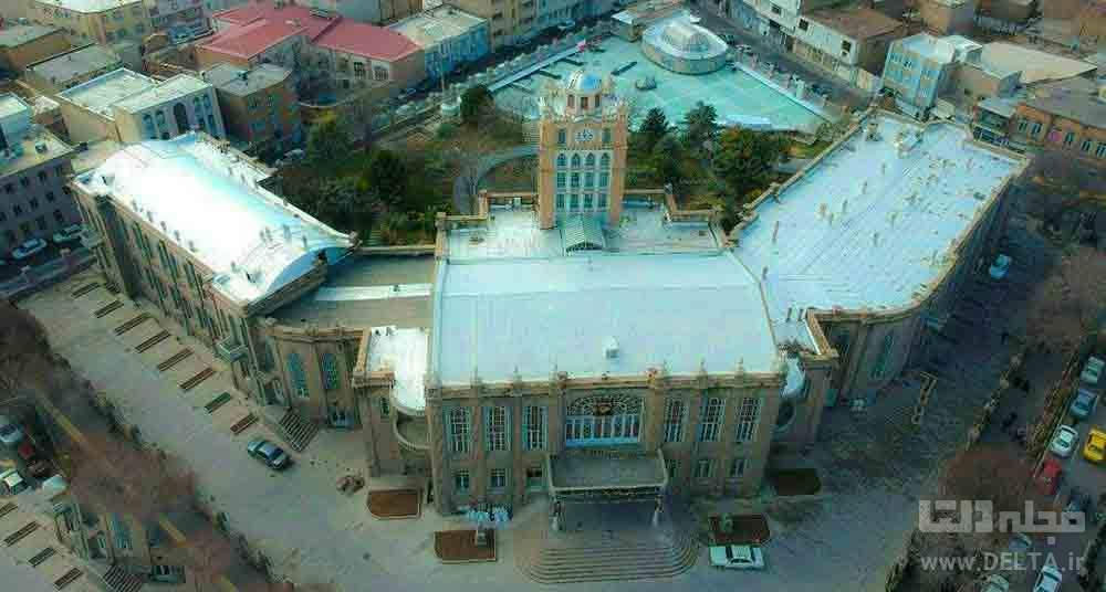 نمای عقاب در کاخ شهرداری تبریز