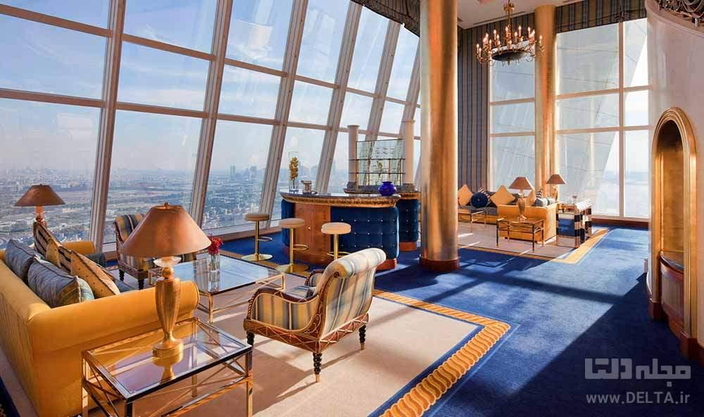 اتاق های هتل العرب دبی