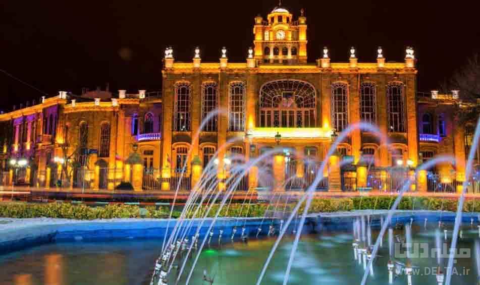 کاخ شهرداری تبریز در میدان ساعت