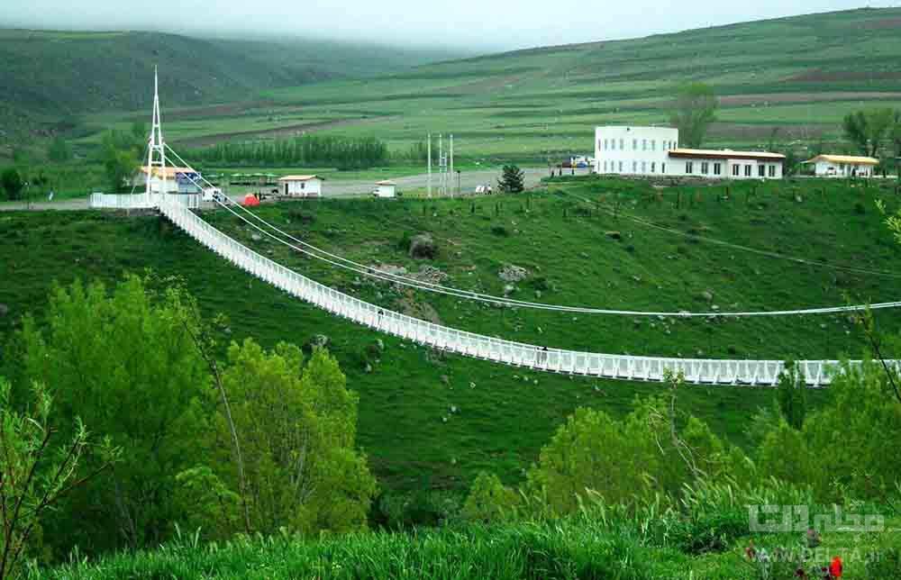 پل معلق مشگین شهر دیدنی اردبیل