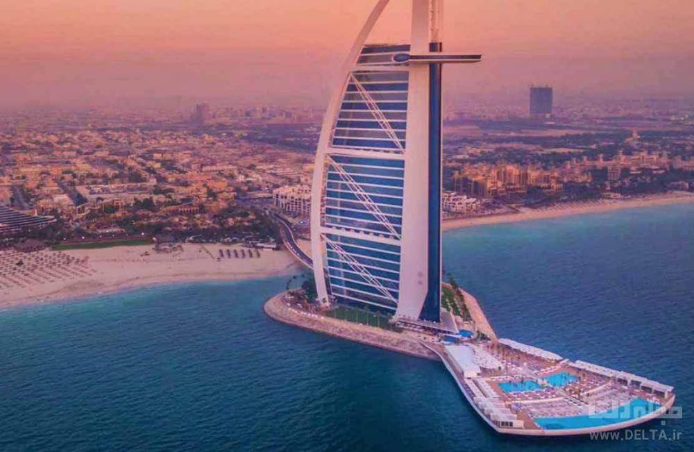 استخر های هتل العرب جمیرا دبی