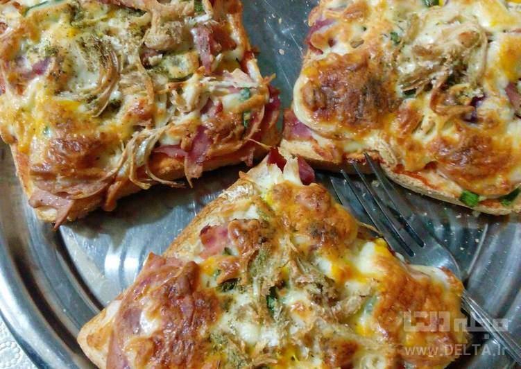 طرز تهيه پيتزا با نان تست