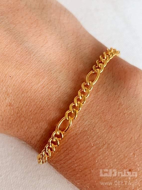 مدل دستبند طلا فیگارو