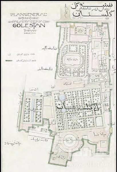 پلان کاخ گلستان