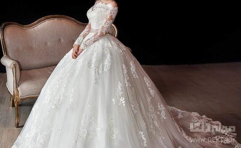 لباس عروس پفي