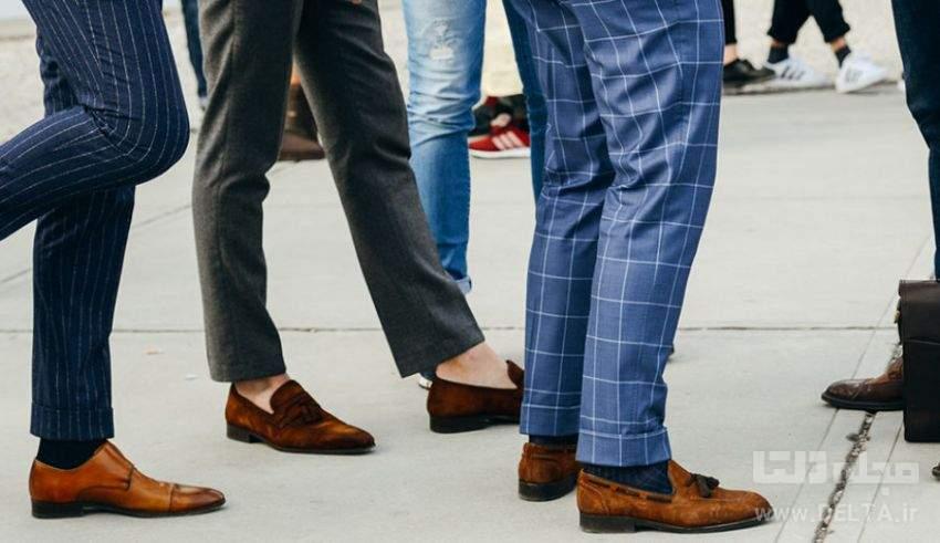 اشتباه در پوشيدن كفش مردانه