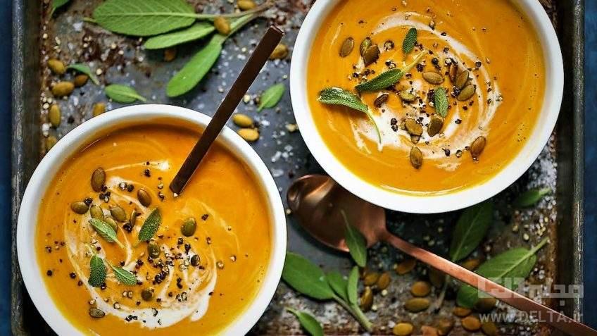 سوپ كدو حلوايي