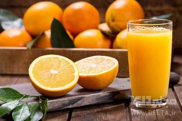 خواص آب پرتقال طبيعي
