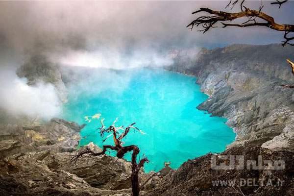 دریاچه کاواه ایجن در اندونزی جاهای عجیب دنیا