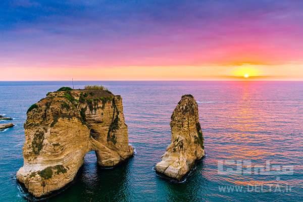 دیدنی های بیروت صخره کبوتر