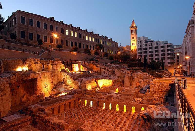 گرمابه های رومی دیدنی های بیروت