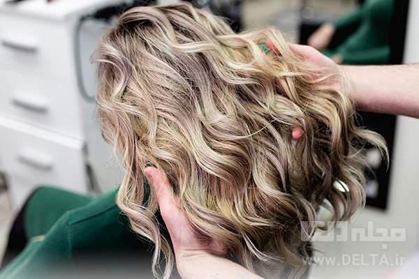 رنگ مو دودی عسلی