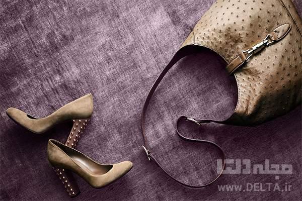 کیف و کفش قهوه ای