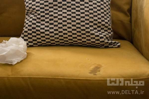 تمیز کردن مبل مخمل با شامپو فرش