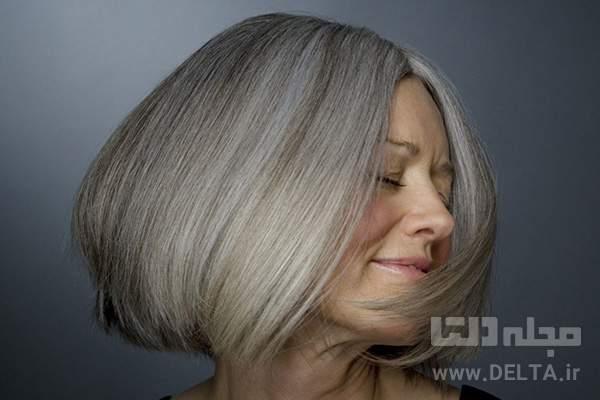 تركيب رنگ مو بدون دكلره براي موهاي سفيد