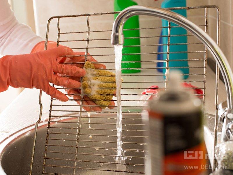 تمیز کردن توری فر