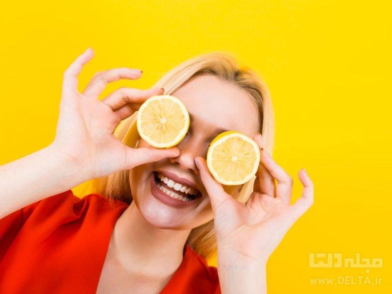 رفع لک صورت با لیمو