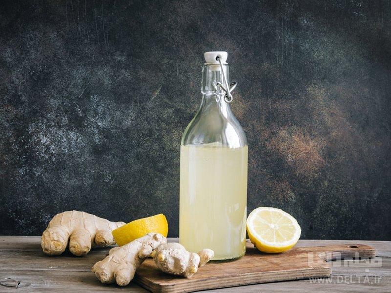 مصرف ناشتا آب زنجبیل