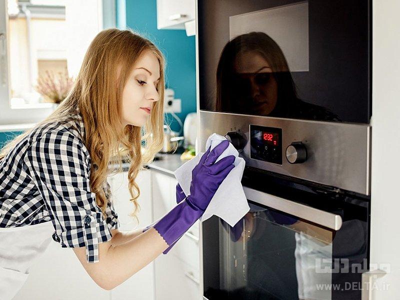 مایکروویو را چگونه تمیز کنیم؟