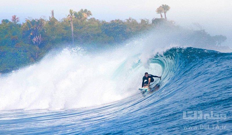 جاهای دیدنی بالی موج سواری