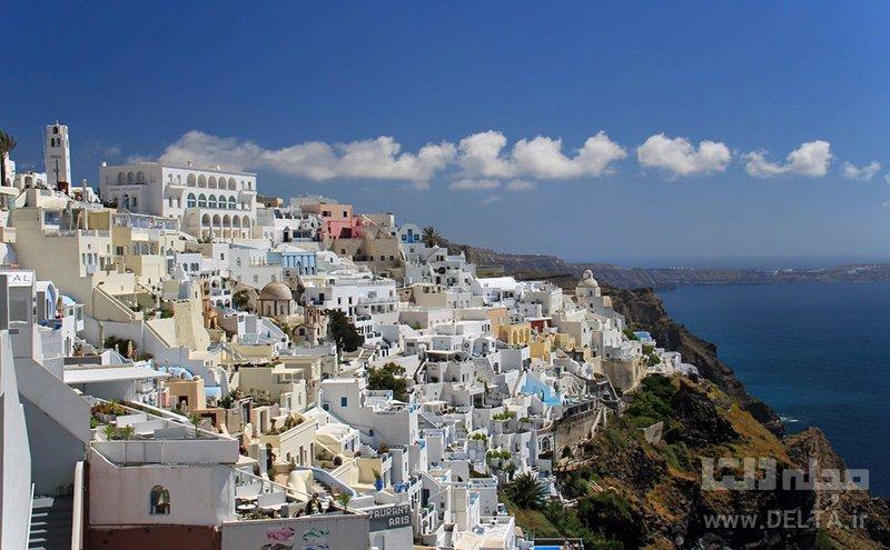 جزیرهی سانتورینی جاذبه های گردشگری یونان