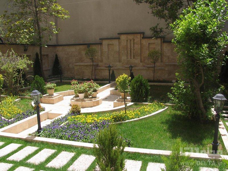 طراحي باغچه در حياط كوچك منزل